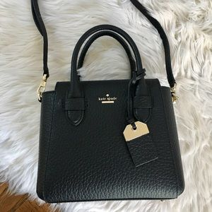 Kate Spade black crossbody satchel bag
